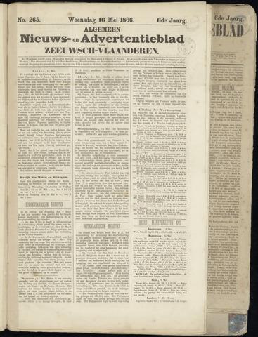Ter Neuzensche Courant. Algemeen Nieuws- en Advertentieblad voor Zeeuwsch-Vlaanderen / Neuzensche Courant ... (idem) / (Algemeen) nieuws en advertentieblad voor Zeeuwsch-Vlaanderen 1866-05-16