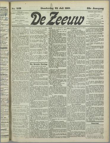 De Zeeuw. Christelijk-historisch nieuwsblad voor Zeeland 1918-07-25