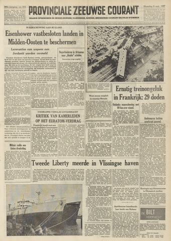 Provinciale Zeeuwse Courant 1957-09-09