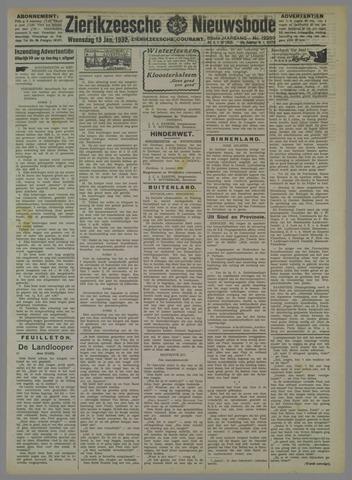 Zierikzeesche Nieuwsbode 1932-01-13