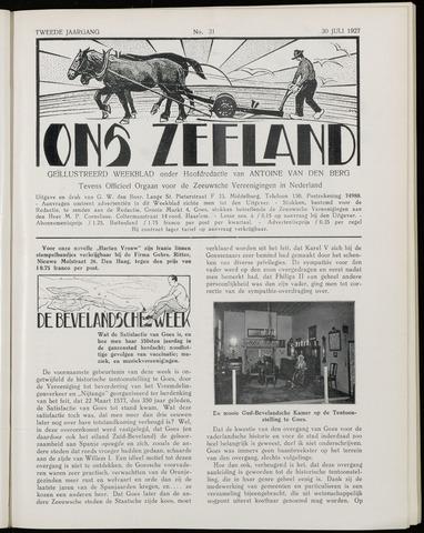 Ons Zeeland / Zeeuwsche editie 1927-07-30