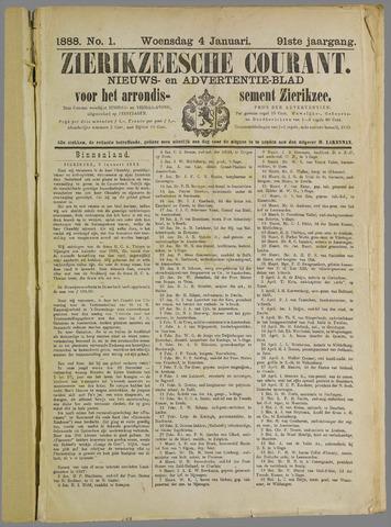 Zierikzeesche Courant 1888