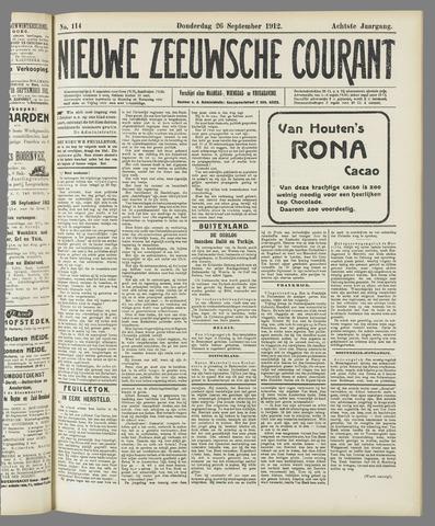 Nieuwe Zeeuwsche Courant 1912-09-26