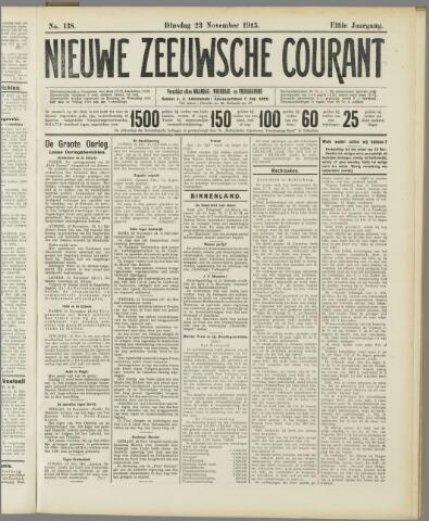 Nieuwe Zeeuwsche Courant 1915-11-23