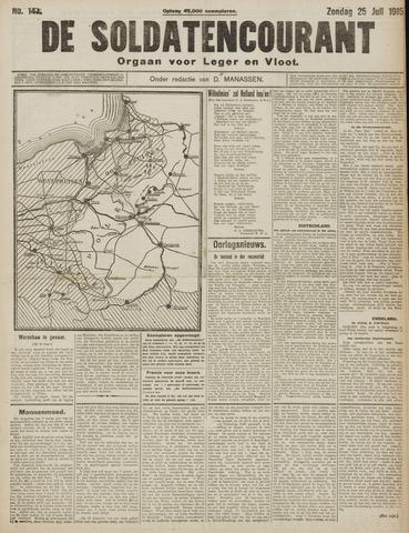 De Soldatencourant. Orgaan voor Leger en Vloot 1915-07-25