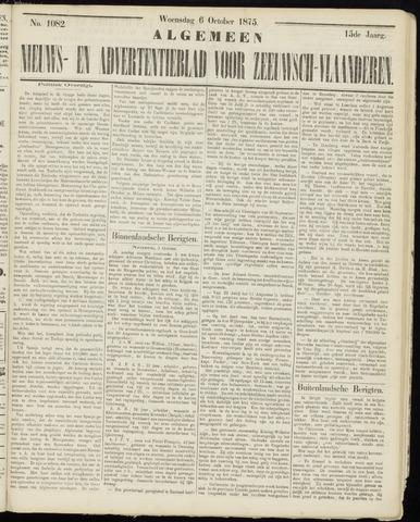 Ter Neuzensche Courant. Algemeen Nieuws- en Advertentieblad voor Zeeuwsch-Vlaanderen / Neuzensche Courant ... (idem) / (Algemeen) nieuws en advertentieblad voor Zeeuwsch-Vlaanderen 1875-10-06