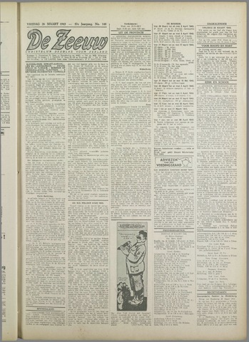 De Zeeuw. Christelijk-historisch nieuwsblad voor Zeeland 1943-03-26