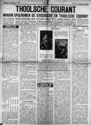 Ierseksche en Thoolsche Courant 1944-08-25