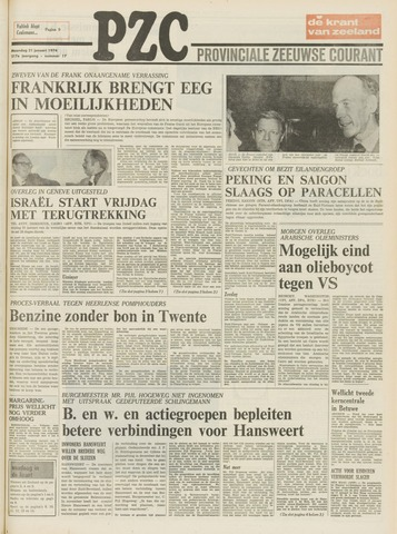 Provinciale Zeeuwse Courant 1974-01-21