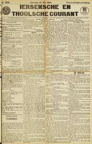 Ierseksche en Thoolsche Courant 1918-05-18