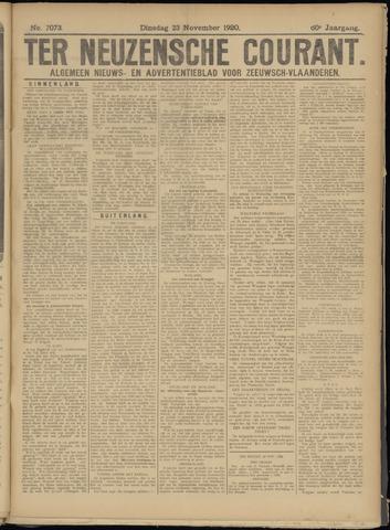 Ter Neuzensche Courant. Algemeen Nieuws- en Advertentieblad voor Zeeuwsch-Vlaanderen / Neuzensche Courant ... (idem) / (Algemeen) nieuws en advertentieblad voor Zeeuwsch-Vlaanderen 1920-11-23