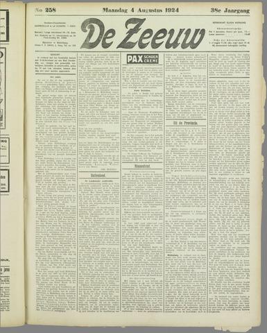 De Zeeuw. Christelijk-historisch nieuwsblad voor Zeeland 1924-08-04
