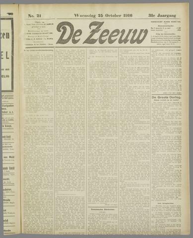 De Zeeuw. Christelijk-historisch nieuwsblad voor Zeeland 1916-10-25