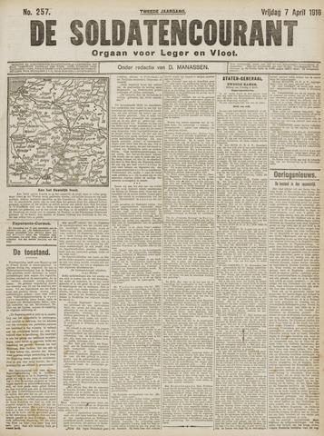 De Soldatencourant. Orgaan voor Leger en Vloot 1916-04-07