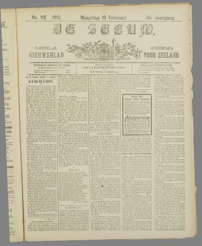 De Zeeuw. Christelijk-historisch nieuwsblad voor Zeeland 1912-02-19