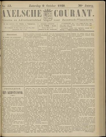 Axelsche Courant 1920-10-09