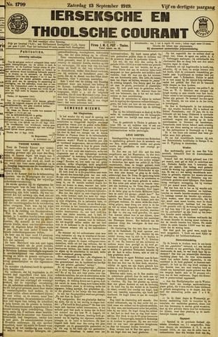 Ierseksche en Thoolsche Courant 1919-09-13