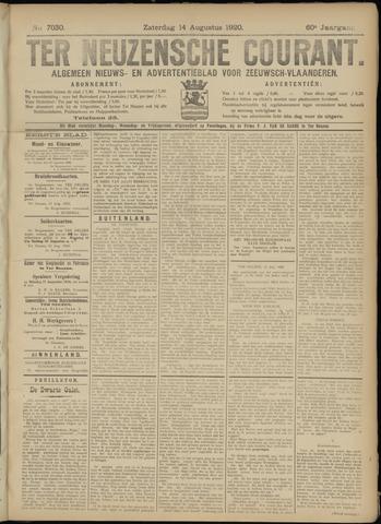 Ter Neuzensche Courant. Algemeen Nieuws- en Advertentieblad voor Zeeuwsch-Vlaanderen / Neuzensche Courant ... (idem) / (Algemeen) nieuws en advertentieblad voor Zeeuwsch-Vlaanderen 1920-08-14