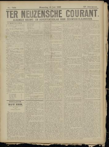 Ter Neuzensche Courant. Algemeen Nieuws- en Advertentieblad voor Zeeuwsch-Vlaanderen / Neuzensche Courant ... (idem) / (Algemeen) nieuws en advertentieblad voor Zeeuwsch-Vlaanderen 1923-07-30