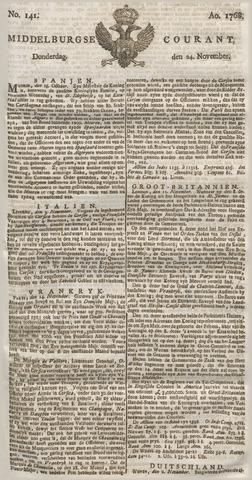 Middelburgsche Courant 1768-11-24