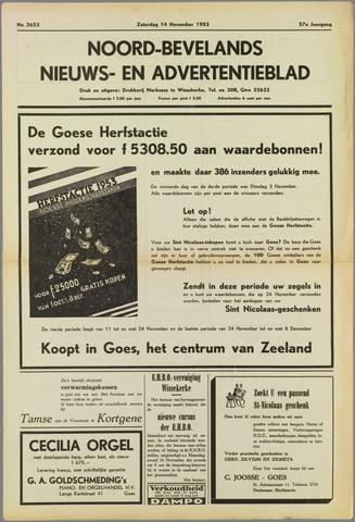 Noord-Bevelands Nieuws- en advertentieblad 1953-11-14