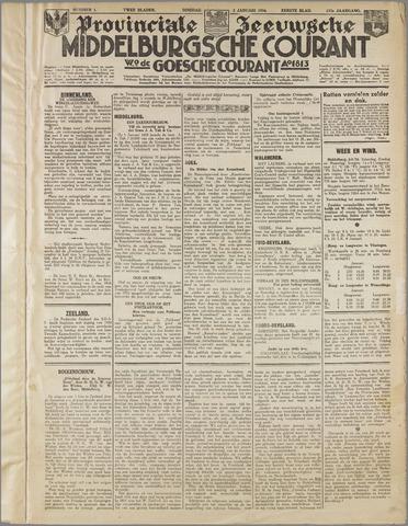 Middelburgsche Courant 1934