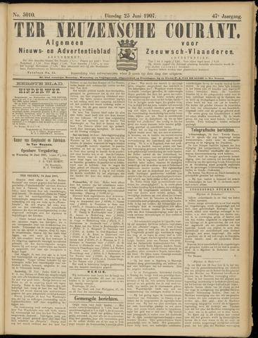 Ter Neuzensche Courant. Algemeen Nieuws- en Advertentieblad voor Zeeuwsch-Vlaanderen / Neuzensche Courant ... (idem) / (Algemeen) nieuws en advertentieblad voor Zeeuwsch-Vlaanderen 1907-06-25