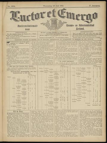 Luctor et Emergo. Antirevolutionair nieuws- en advertentieblad voor Zeeland / Zeeuwsch-Vlaanderen. Orgaan ter verspreiding van de christelijke beginselen in Zeeuwsch-Vlaanderen 1913-07-23