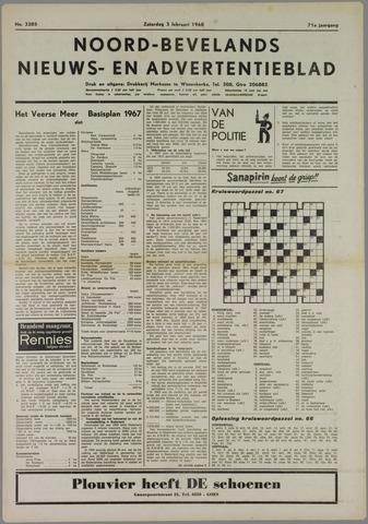 Noord-Bevelands Nieuws- en advertentieblad 1968-02-03
