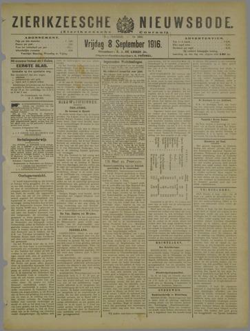 Zierikzeesche Nieuwsbode 1916-09-08