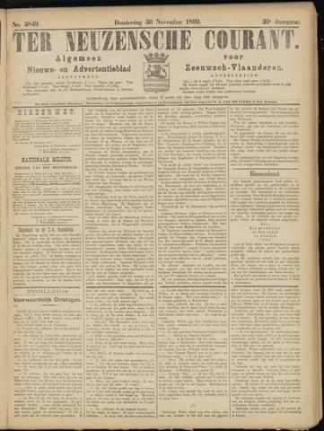 Ter Neuzensche Courant. Algemeen Nieuws- en Advertentieblad voor Zeeuwsch-Vlaanderen / Neuzensche Courant ... (idem) / (Algemeen) nieuws en advertentieblad voor Zeeuwsch-Vlaanderen 1899-11-30