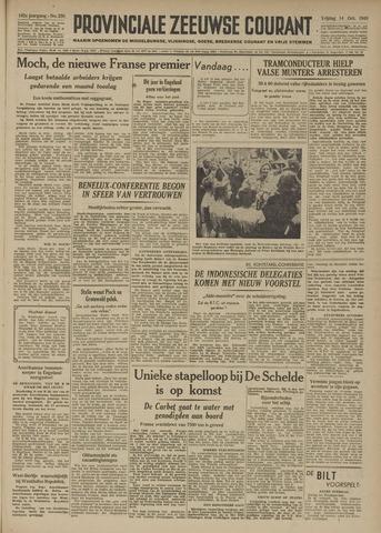 Provinciale Zeeuwse Courant 1949-10-14