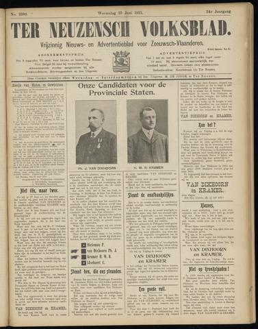 Ter Neuzensch Volksblad. Vrijzinnig nieuws- en advertentieblad voor Zeeuwsch- Vlaanderen / Zeeuwsch Nieuwsblad. Nieuws- en advertentieblad voor Zeeland 1913-06-25