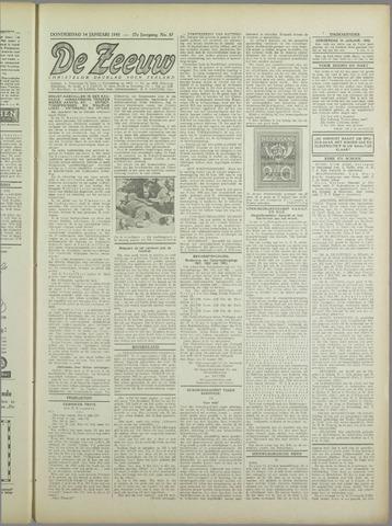 De Zeeuw. Christelijk-historisch nieuwsblad voor Zeeland 1943-01-14