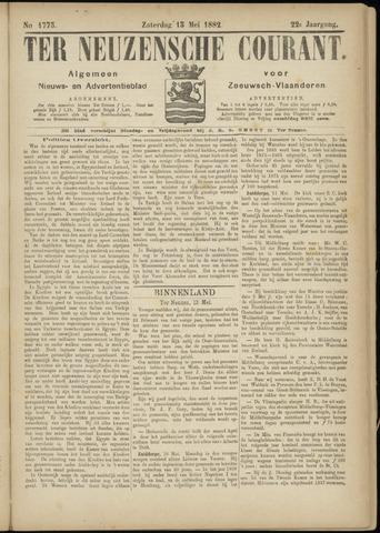 Ter Neuzensche Courant. Algemeen Nieuws- en Advertentieblad voor Zeeuwsch-Vlaanderen / Neuzensche Courant ... (idem) / (Algemeen) nieuws en advertentieblad voor Zeeuwsch-Vlaanderen 1882-05-13