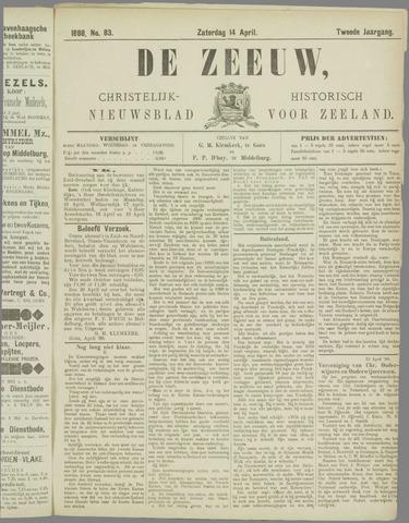 De Zeeuw. Christelijk-historisch nieuwsblad voor Zeeland 1888-04-14