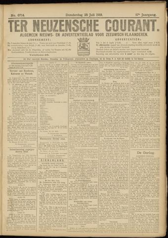 Ter Neuzensche Courant. Algemeen Nieuws- en Advertentieblad voor Zeeuwsch-Vlaanderen / Neuzensche Courant ... (idem) / (Algemeen) nieuws en advertentieblad voor Zeeuwsch-Vlaanderen 1918-07-25