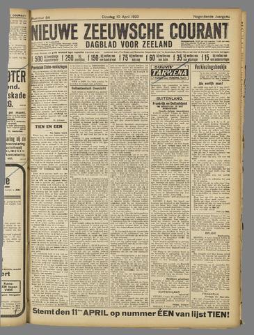 Nieuwe Zeeuwsche Courant 1923-04-10