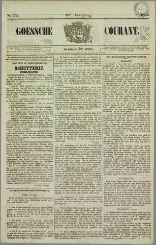 Goessche Courant 1856-04-28