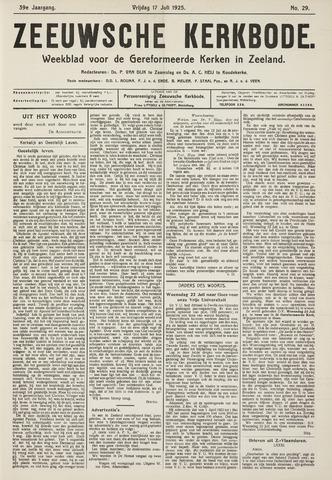 Zeeuwsche kerkbode, weekblad gewijd aan de belangen der gereformeerde kerken/ Zeeuwsch kerkblad 1925-07-17