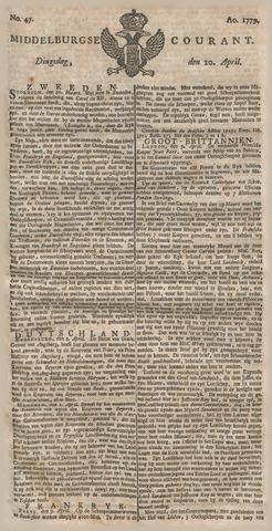 Middelburgsche Courant 1779-04-20