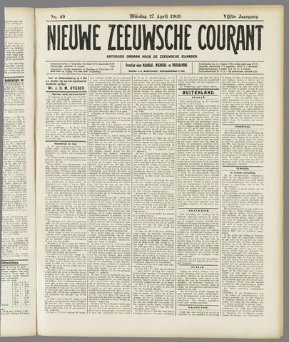 Nieuwe Zeeuwsche Courant 1909-04-27