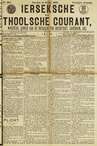 Ierseksche en Thoolsche Courant 1902-10-11