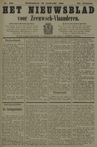 Nieuwsblad voor Zeeuwsch-Vlaanderen 1901-01-23