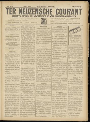 Ter Neuzensche Courant. Algemeen Nieuws- en Advertentieblad voor Zeeuwsch-Vlaanderen / Neuzensche Courant ... (idem) / (Algemeen) nieuws en advertentieblad voor Zeeuwsch-Vlaanderen 1934-05-02