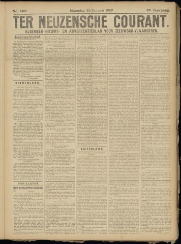 Ter Neuzensche Courant. Algemeen Nieuws- en Advertentieblad voor Zeeuwsch-Vlaanderen / Neuzensche Courant ... (idem) / (Algemeen) nieuws en advertentieblad voor Zeeuwsch-Vlaanderen 1923-01-22