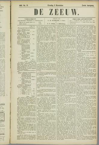 De Zeeuw. Christelijk-historisch nieuwsblad voor Zeeland 1891-11-03