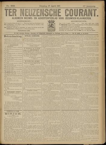 Ter Neuzensche Courant. Algemeen Nieuws- en Advertentieblad voor Zeeuwsch-Vlaanderen / Neuzensche Courant ... (idem) / (Algemeen) nieuws en advertentieblad voor Zeeuwsch-Vlaanderen 1917-04-17