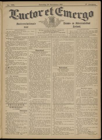 Luctor et Emergo. Antirevolutionair nieuws- en advertentieblad voor Zeeland / Zeeuwsch-Vlaanderen. Orgaan ter verspreiding van de christelijke beginselen in Zeeuwsch-Vlaanderen 1917-11-24
