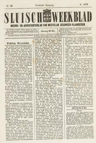 Sluisch Weekblad. Nieuws- en advertentieblad voor Westelijk Zeeuwsch-Vlaanderen 1873-05-20